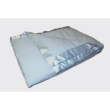 Royal Elite Down Blanket, 233 Thread Count, Light, Full/Queen, Blue, 14 Oz.