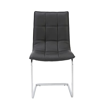 Euro Style™ Chad Leatherette Side Chair, Black