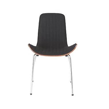 Euro Style™ Curt Fabric Side Chair, Black
