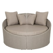 Euro Style™ Linda Fabric Left Facing Lounge Chair, Taupe