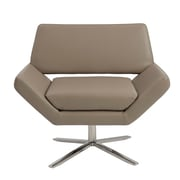 Euro Style™ Carlotta Leather Lounge Chair, Taupe