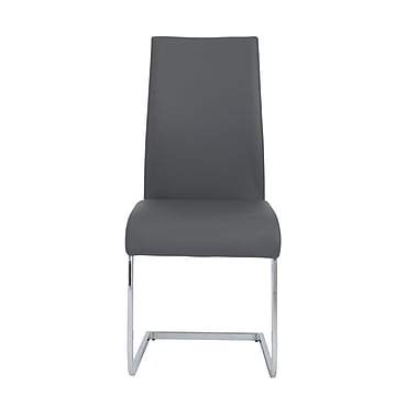 Euro Style™ Epifania Leatherette Side Chair, Gray