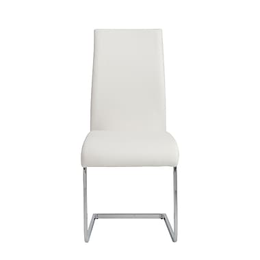 Euro Style™ Epifania Leatherette Side Chair, White