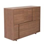Euro Style™ Cabrio Wood Buffet Sideboard, Walnut