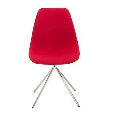 Euro Style™ Dax Fabric Side Chair, Red