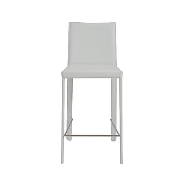 Euro Style™ Hasina Leather Counter Stool, White
