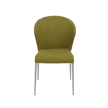 Euro Style™ Sy Fabric Side Chair, Green