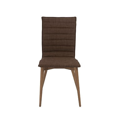 Euro Style™ Yoland Fabric Side Chair, Brown