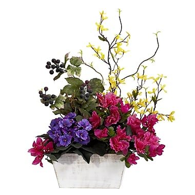 Nearly Natural 1270 Mixed Floral with Azalea Floral Arrangements, Assorted