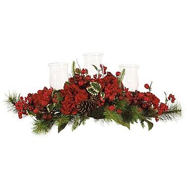 Nearly Natural 4659 Hydrangea Holiday Candelabrum
