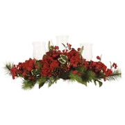 Nearly Natural 4659 Hydrangea Holiday Candelabrum