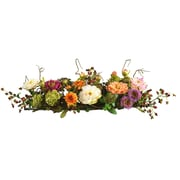 Nearly Natural 4665 Mixed Peony Centerpieces, Orange