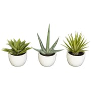 Nearly Natural 4769 Southwest Collection Set of 3 Plant in Pot