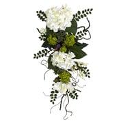 "Nearly Natural 4782 28"" Hydrangea Teardrop, White"