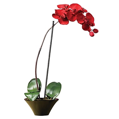Nearly Natural 4859 Holiday Phalaenopsis Orchid Arrangements, Red