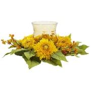 Nearly Natural 4905 Golden Sunflower Candelabrums, Yellow