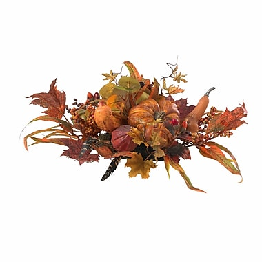 Nearly Natural 4910 Harvest Centerpieces, Orange