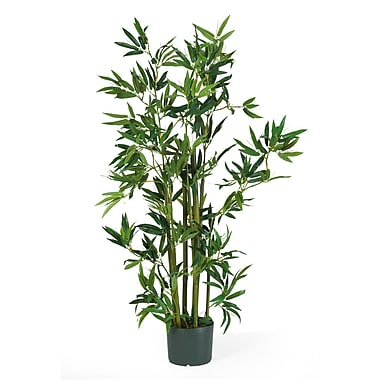 Nearly Natural 5040 4' Bamboo Silk Plant in Pot