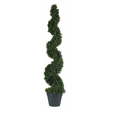Nearly Natural 5076 4' Cedar Spiral Silk Tree in Pot
