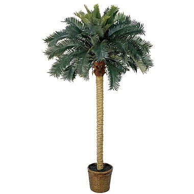 Nearly Natural 5107 6' Sago Palm Silk Tree in Decorative Vase