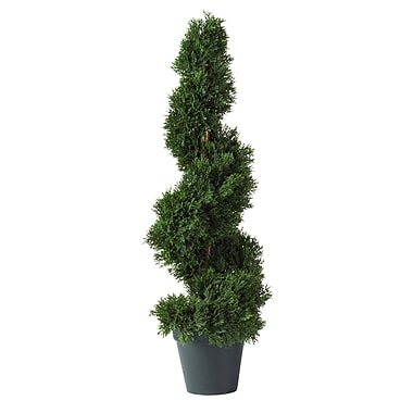 Nearly Natural 5160 2' Cedar Spiral Plant in Pot