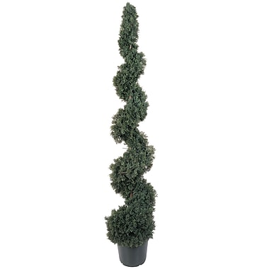 Nearly Natural 5166 5' Cedar Spiral Plant in Pot
