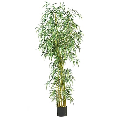 Nearly Natural 5194 7' Curved Slim Bamboo Tree in Pot