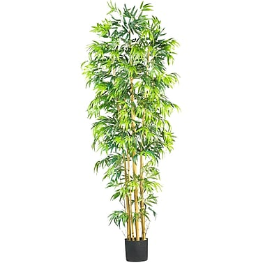Nearly Natural 5215 7' Bambusa Bamboo Silk Tree in Pot