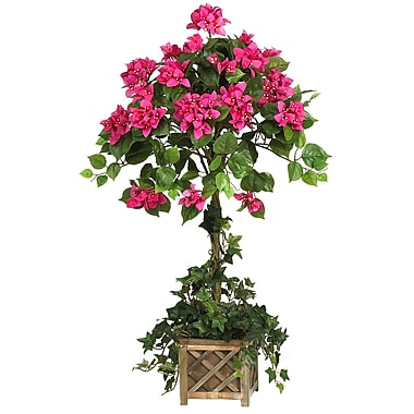 Nearly Natural 5227 Bougainvillea Desk Top Plant in Decorative Vase