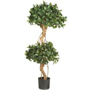 Nearly Natural 5233 4' Sweet Bay Topiary Tree in Pot