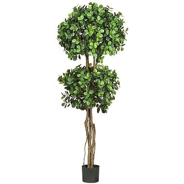 Nearly Natural 5248 Eucalyptus Topiary Tree in Pot