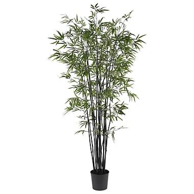 Nearly Natural 5277 Black Bamboo Silk Tree in Pot