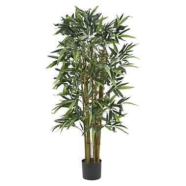 Nearly Natural 5282 4' Biggy Bamboo Silk Tree in Pot