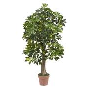 Nearly Natural 5305 4' Schefflera Tree in Pot