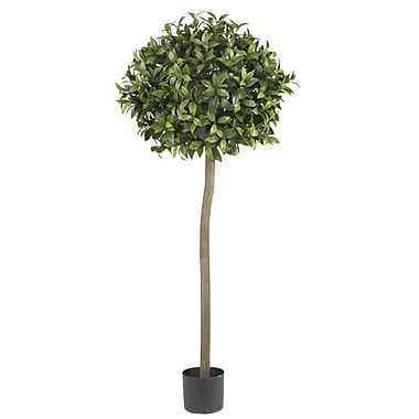 Nearly Natural 5310 5' Sweet Bay Ball Topiary Plant in Pot