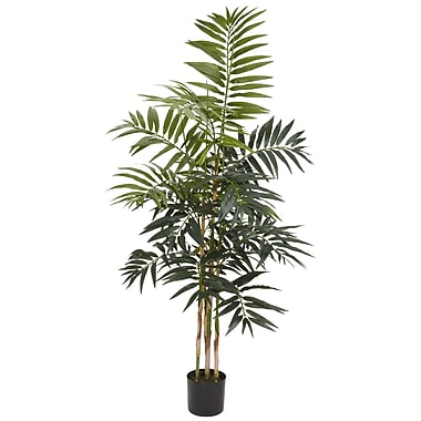 Nearly Natural 5318 4' Bamboo Palm Silk Tree in Pot