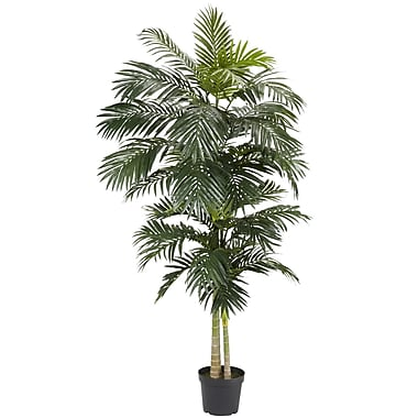 Nearly Natural 5326 8' Golden Cane Palm Tree in Pot