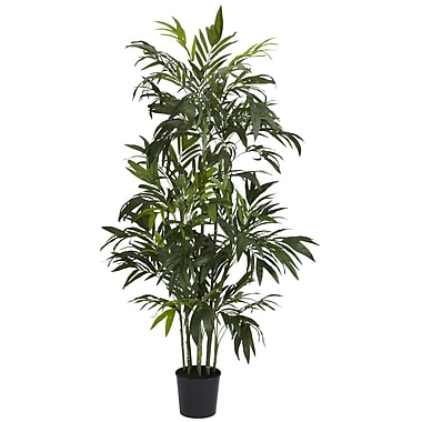 Nearly Natural 5328 6' Bamboo Palm Tree in Pot