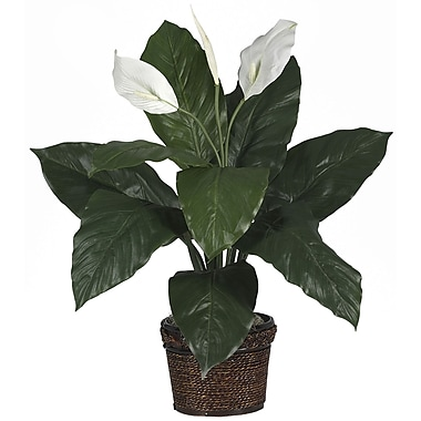 Nearly Natural 6518 Spathyfillum Plant in Pot