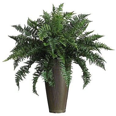 Nearly Natural 6540 Ruffle Fern Floor Plant in Decorative Vase