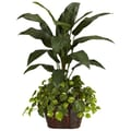 Nearly Natural 6637 4' Bird of Paradise Floor Plant in Decorative Vase