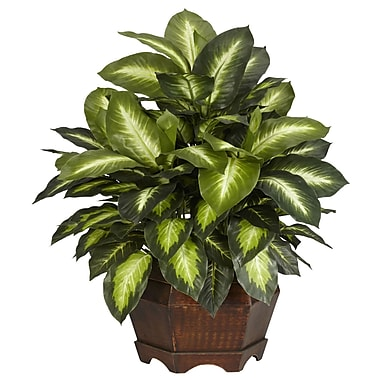 Nearly Natural 6639 Golden Dieffenbachia Plant in Pot