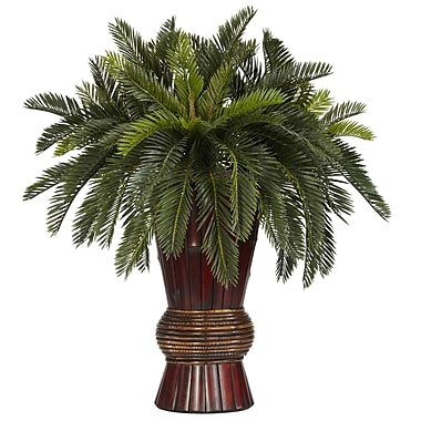 Nearly Natural 6655 Cycas Desk Top Plant in Decorative Vase