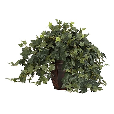 Nearly Natural 6660 Puff Ivy Desk Top Plant in Decorative Vase