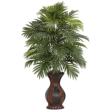 Nearly Natural 6661 Areca Palm Silk Floor Plant in Decorative Vase