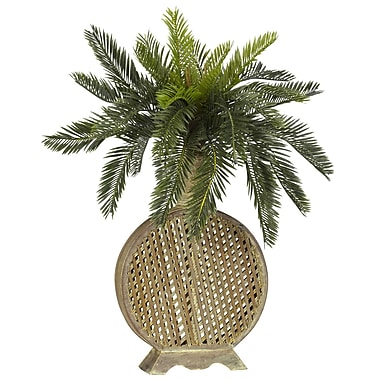 Nearly Natural 6663 Cycas Desk Top Plant in Decorative Vase