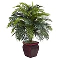 Nearly Natural 6686 Areca Floor Plant in Decorative Vase