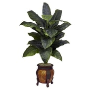 Nearly Natural 6695 Giant Spathyfillum Silk Floor Plant in Decorative Vase