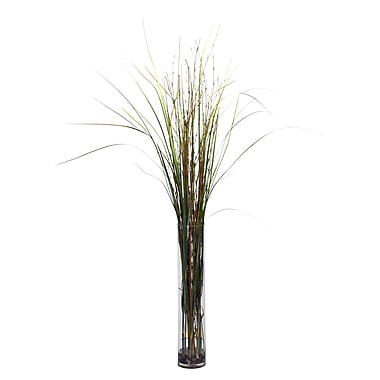 Nearly Natural 6699 Grass and Bamboo Silk Floor Plant in Decorative Vase