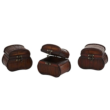 Nearly Natural 0544-S3 Bamboo Chests Set of 3